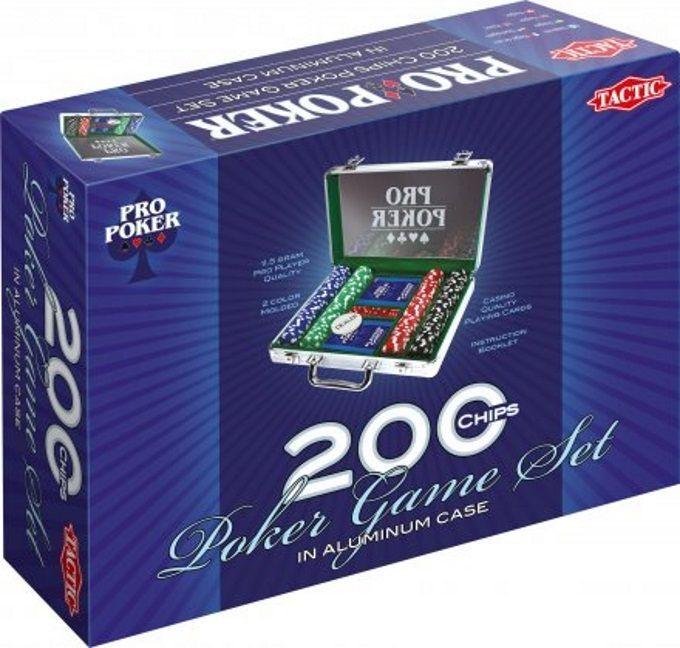 Tactic ProPoker Koffert m/200 chips (386-03090)