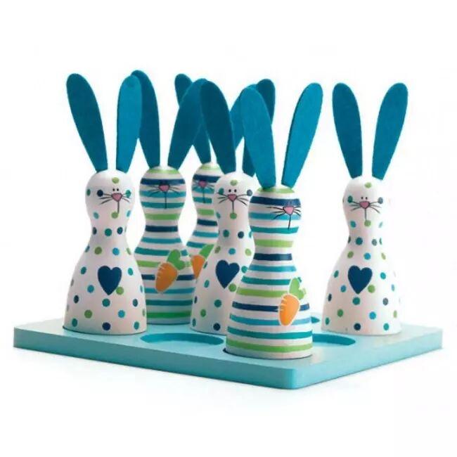 Scan 3-på-rad Barnespill, Blå kaniner (369-FN120111)