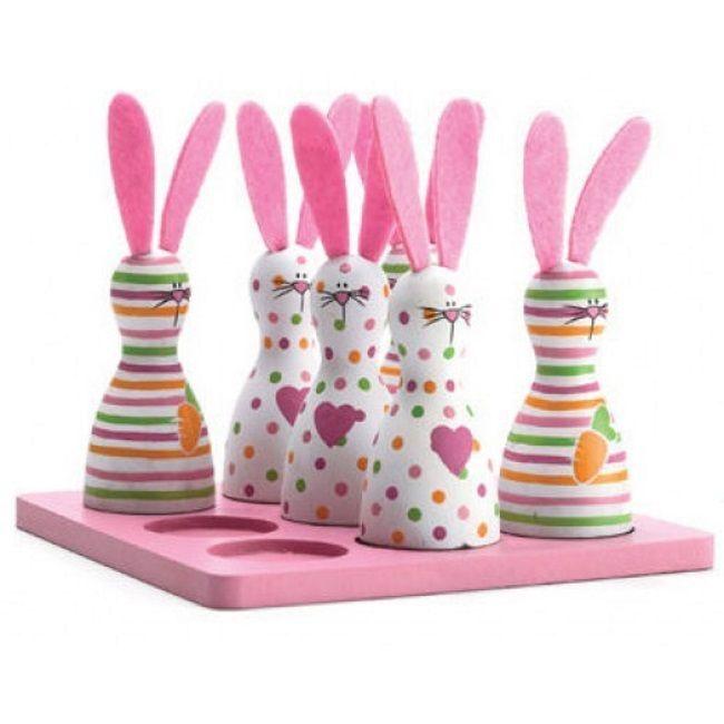 Scan 3-på-rad Barnespill, Rosa kaniner (369-FN120104)