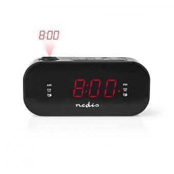 """Digital Vekkerklokkeradio Med Projeksjon   0,9"""" LED   FM   Dobbel Alarm   Slumrefunksjon"""