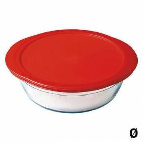 Hermetisert matboks ine Kjøkken Rødt borosilikatglass - 0,35 l