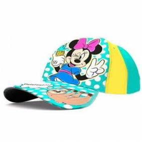 Cap Minnie Mouse jenter bomull gul / grønn one-size-fits-all