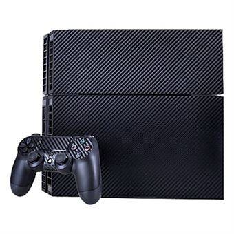 Rio Carbon Fiber Stickers for PS4 Game Console - Navy Blue