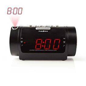 Digital klokkeradio med vekkerklokke og projeksjon   0,9