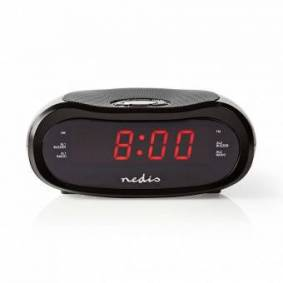 Digital Alarm Clock Radio   LED Vise   1.6 cm   AM / FM   slumrefunksjon   Sleep timer   Digitalt   Sort