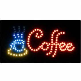Signert med lys - kaffe