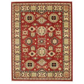 RugVista Orientalsk Teppe Shirvan Kazak 240X300 Mørk Rød/Mørk Beige