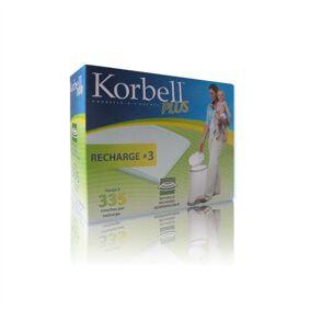 Korbell Bleiepose refill til PLUS Bleiebøtte 3pack