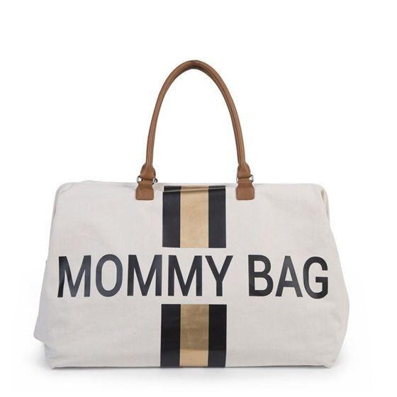 Childhome Mommy bag, Offwhite + Sort/Gull