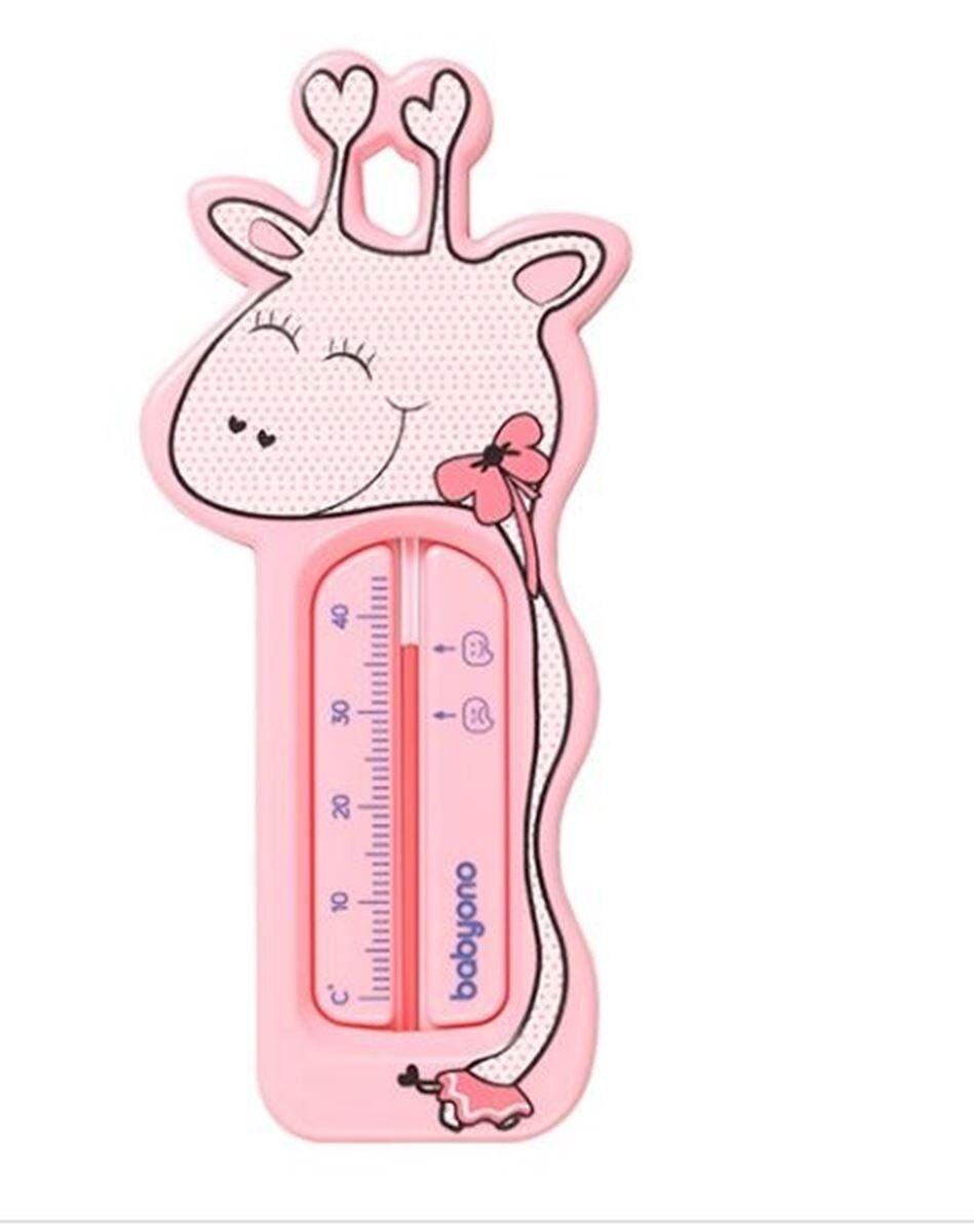 Babyono Badetermometer, Giraffe, Rosa