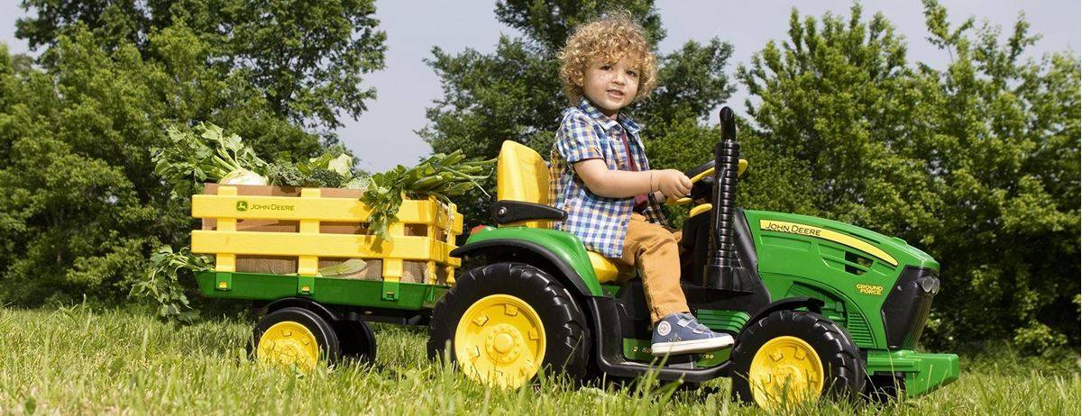 Peg Perego John Deere Elektrisk Traktor - Ground Force 12V
