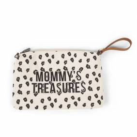 Childhome Mommy Bag Clutch, Stor Leopard Canvas
