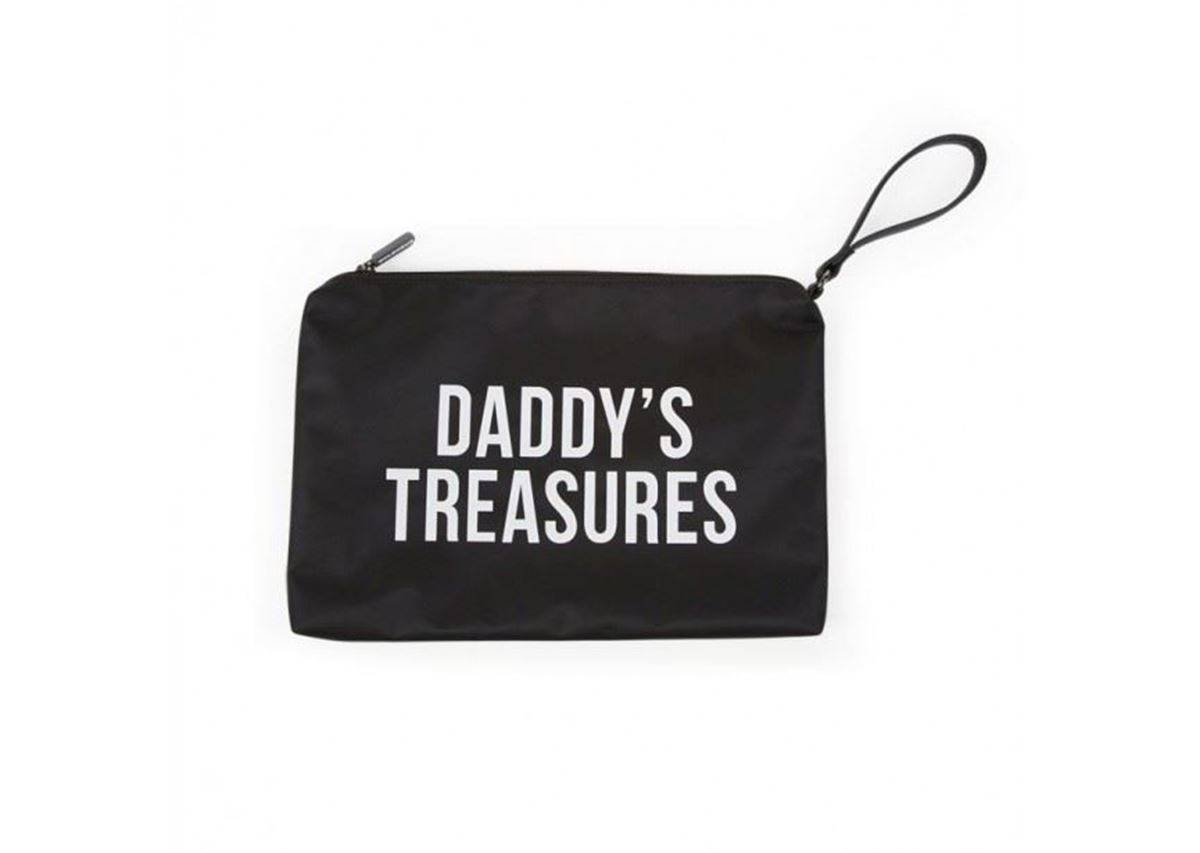 Childhome Daddy Bag Clutch, Sort/Hvit