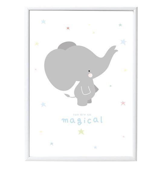 A Little Lovely Company Poster: Grey Elephant
