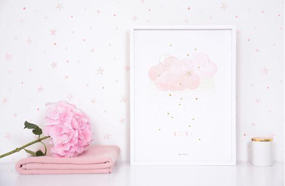 Lilipinso Stardust (Sweet Light Pink) - Poster (Art Print)