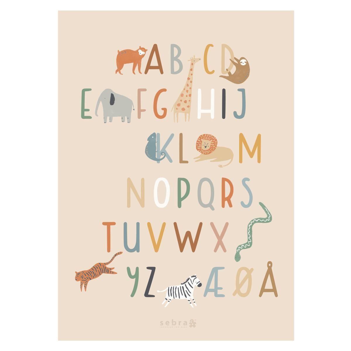 Sebra Plakat, A-Å, Wildlife