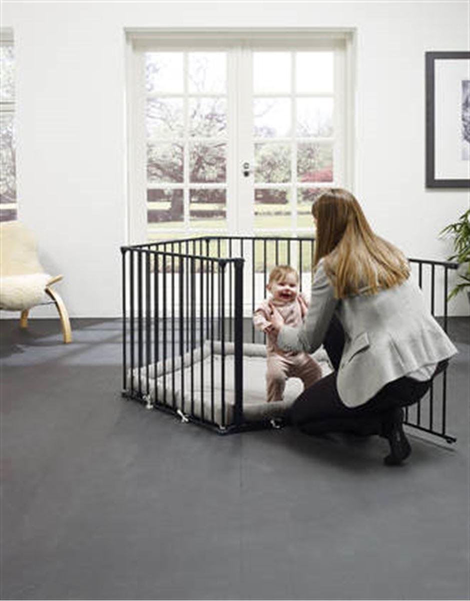 BabyDan Lekegrind, Park-A-Kid, Sort, med teppe