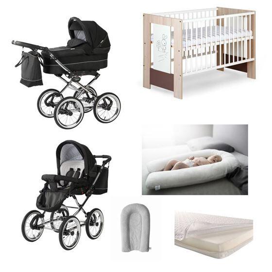 Mimmis Startpakker Startpakke: Baby Merc Duovogn + Seng + Madrass + HUG Babynest/Gravidep