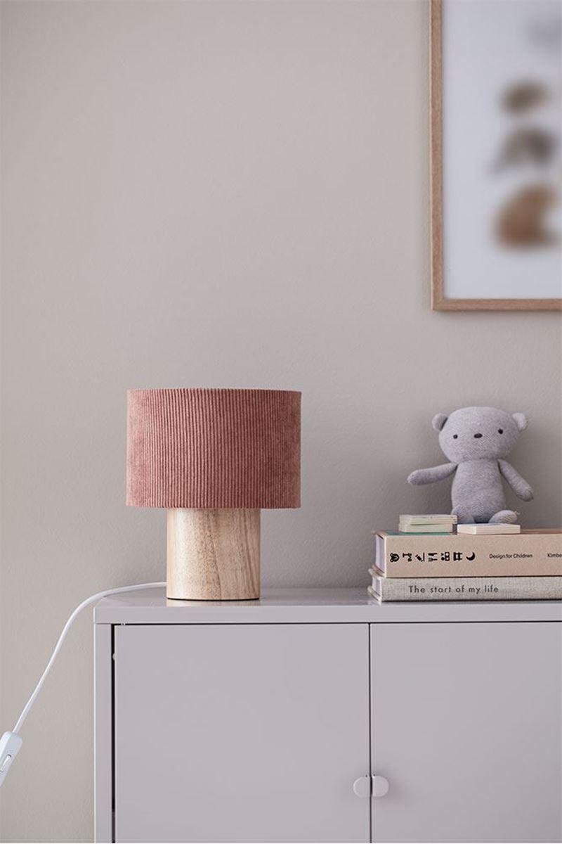 Kids Concept Bordlampe i kordflyel, Rustrd