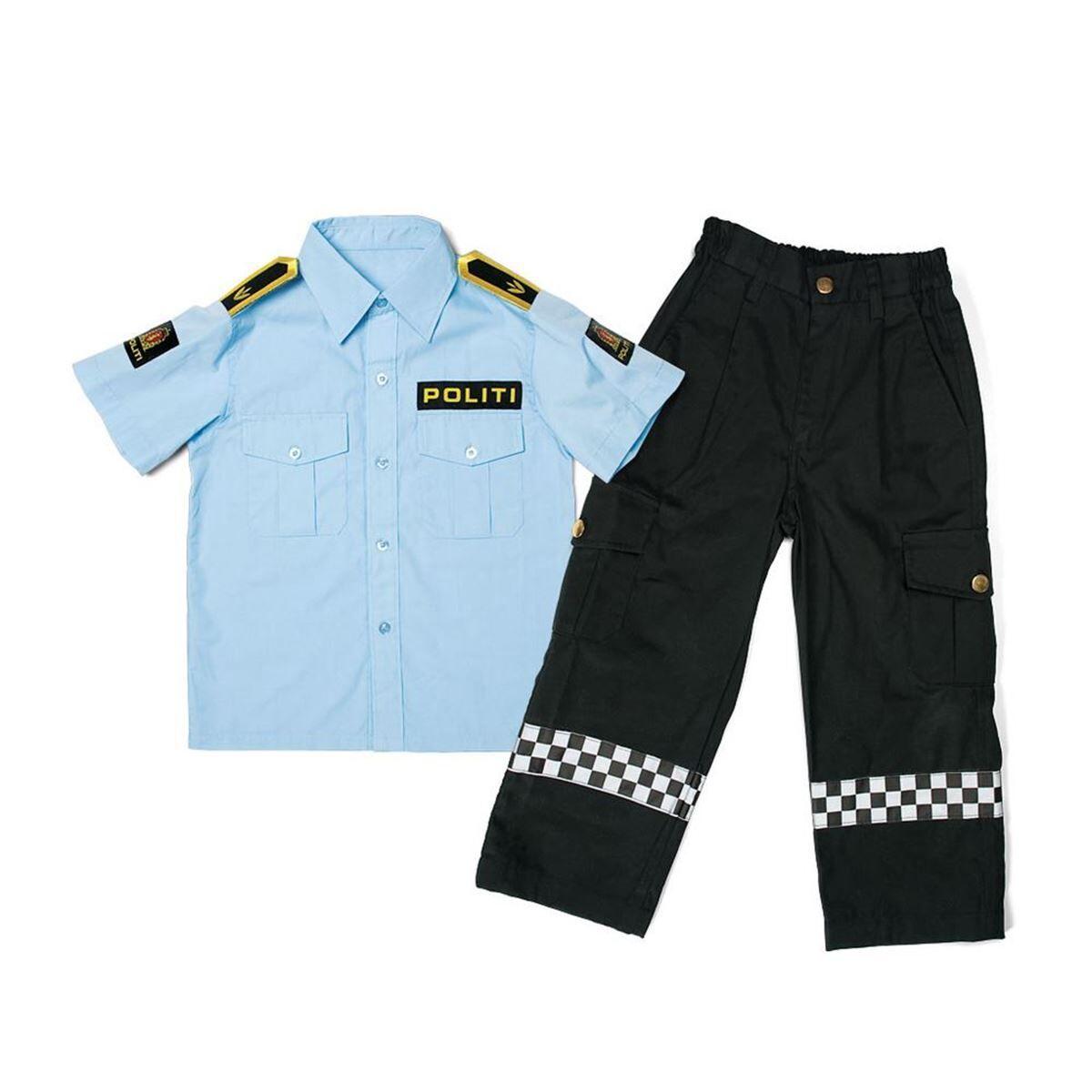 TSI Torsi Norsk Politiuniform, Skjorte + Bukse, 4-5 r