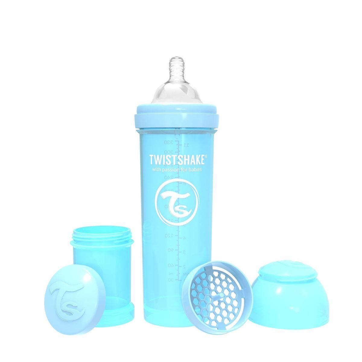 Twistshake Tteflaske, Anti-Colic 330ml, Pastel Bl