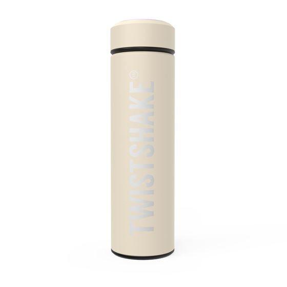 Twistshake Hot or Cold Bottle 420ml Pastel Beige