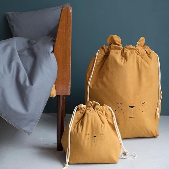 Fabelab Storage Bag - Small - Bear - Ochre