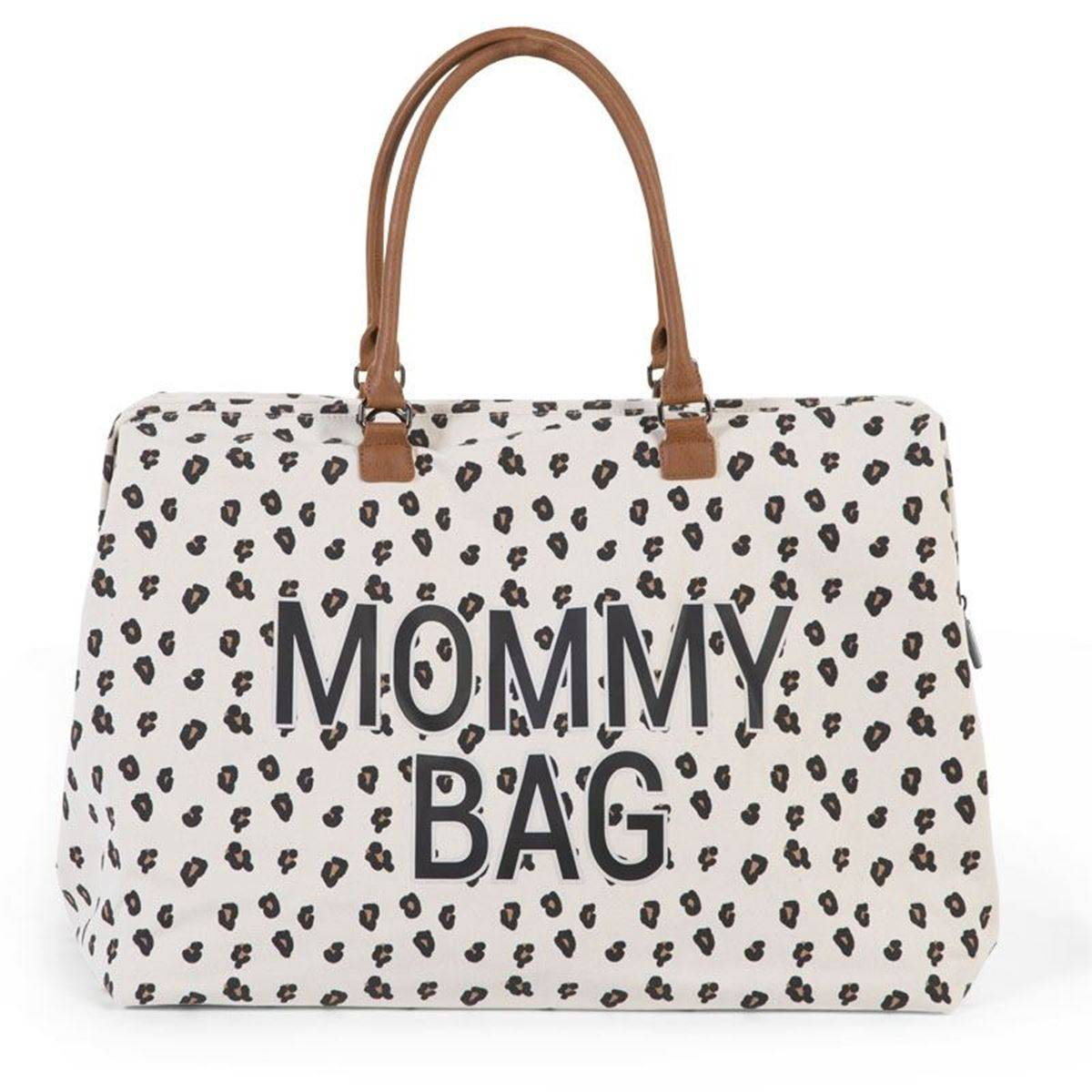 Childhome Mommy Bag, Stor Leopard Canvas