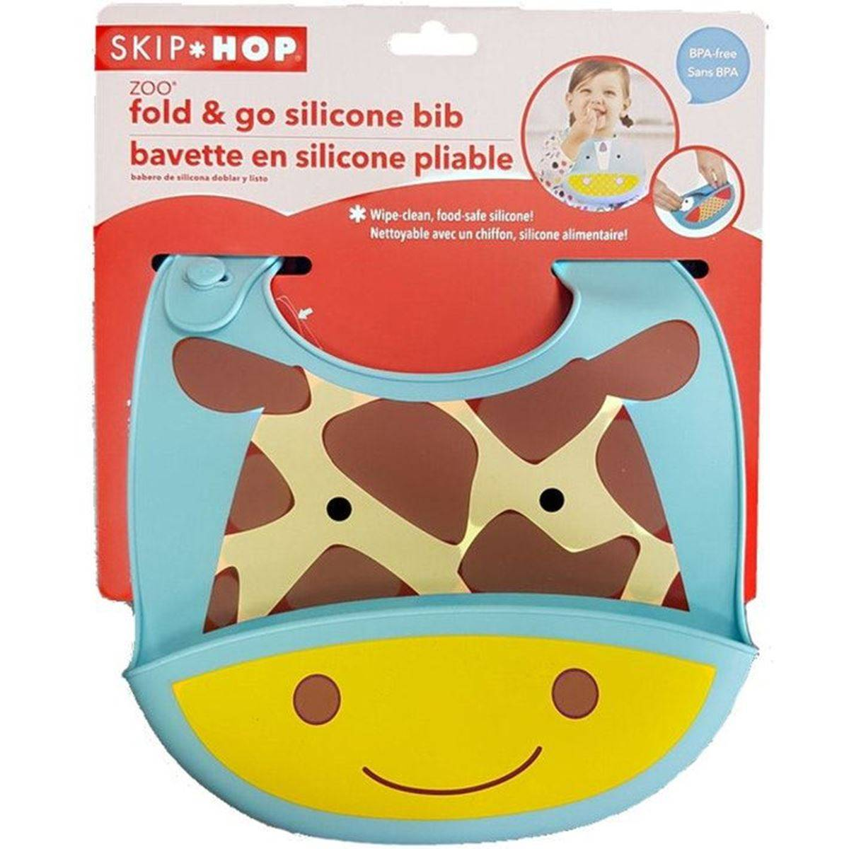 SkipHop Skip Hop Zoo Silikonsmekke, Giraffe,6m+