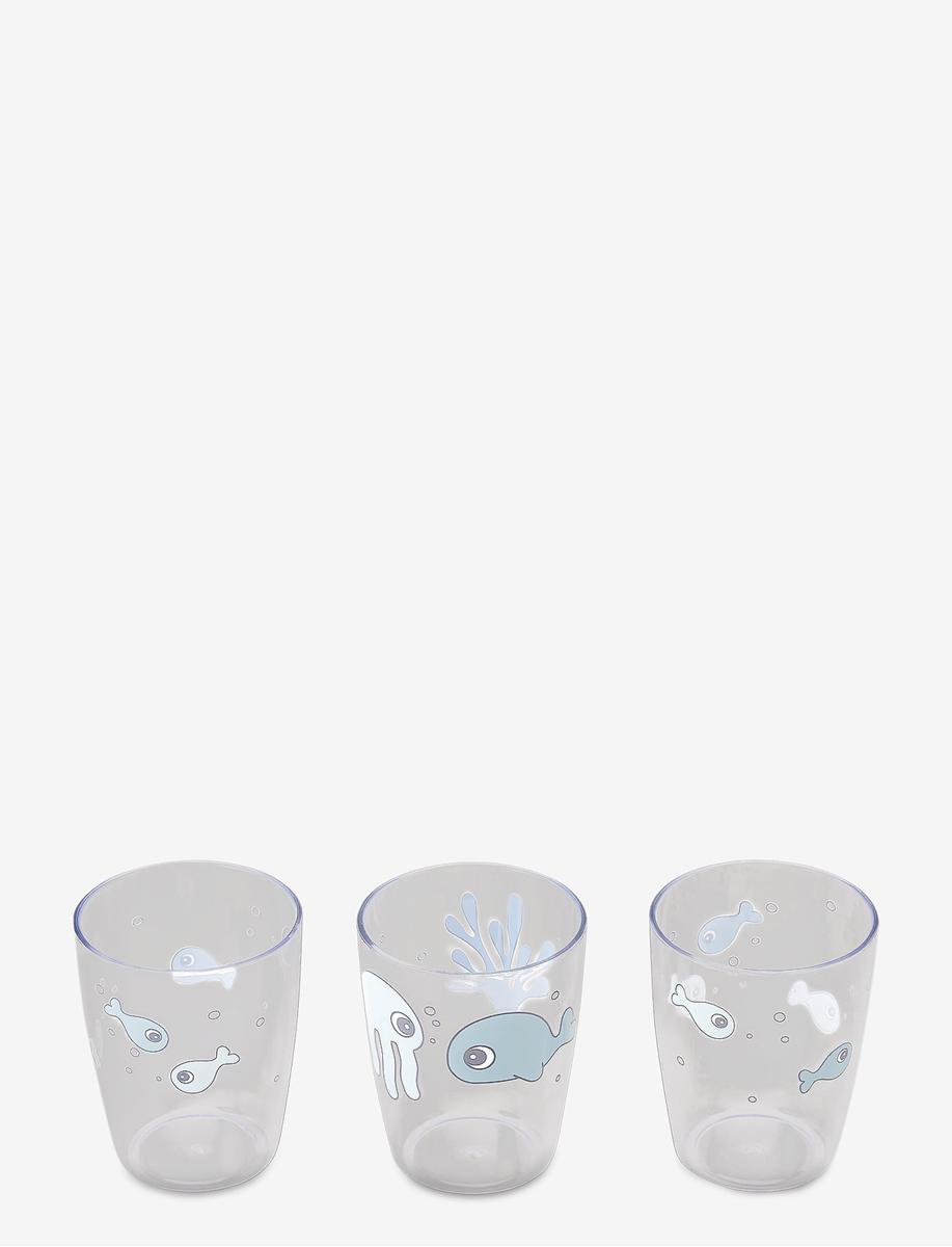 Done by Deer Glass 3 pk, Sea friends Blue