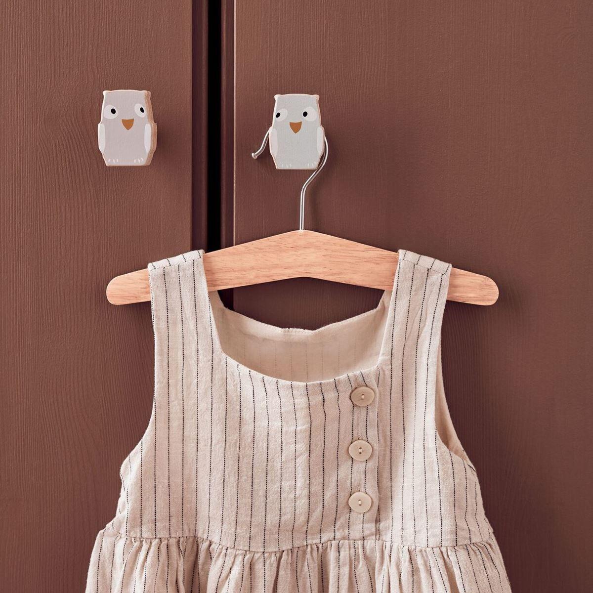 Kids Concept Veggkroker, 3 stk Ugle, Edvin