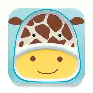 SkipHop Skip Hop Melamintallerken, Zoo Divided Plate, Giraffe