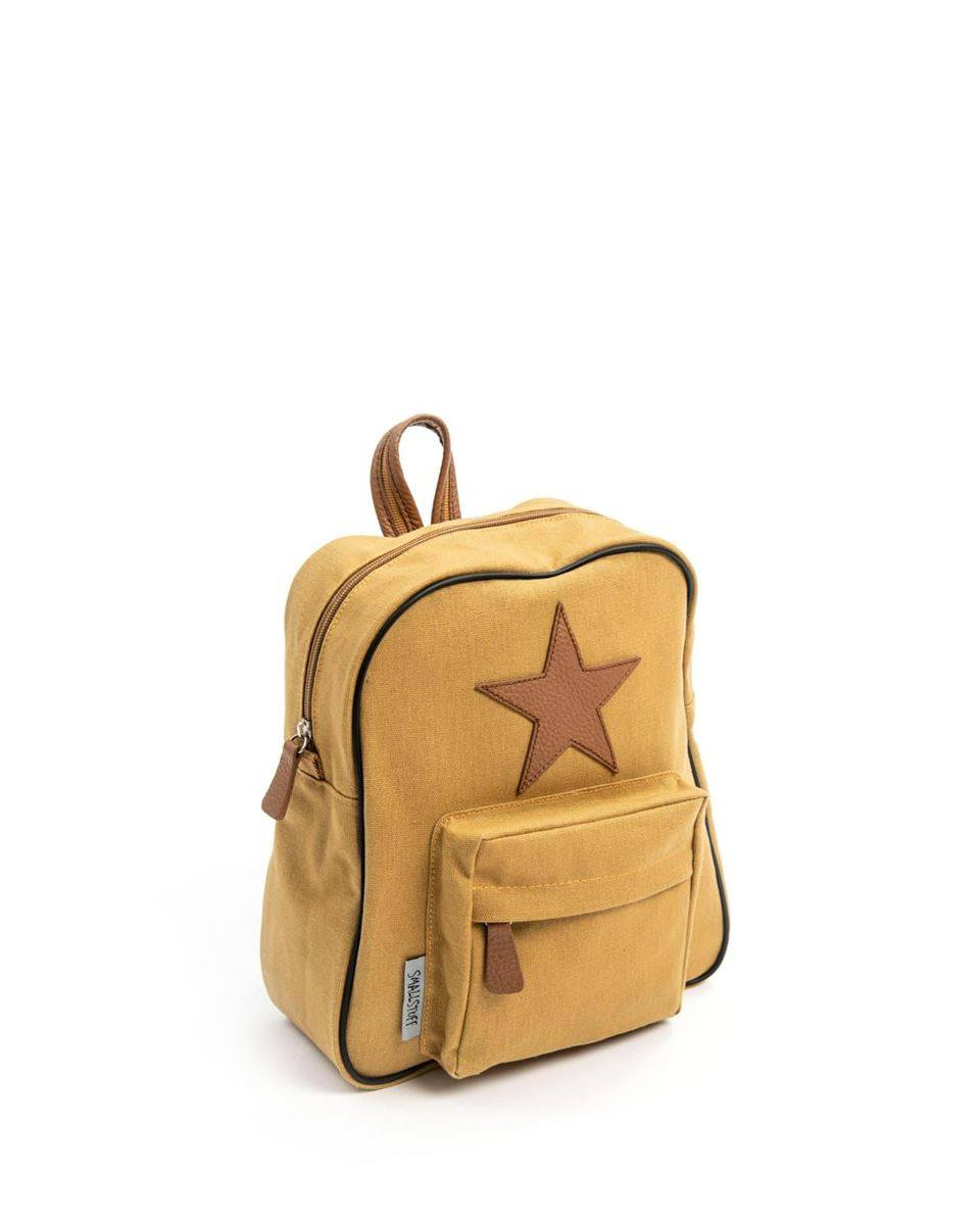 Smallstuff Ryggsekk, Curry - Leather Star