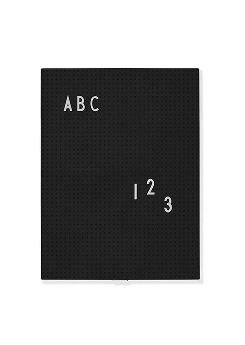 Design Letters Oppslagstavle Sort A4
