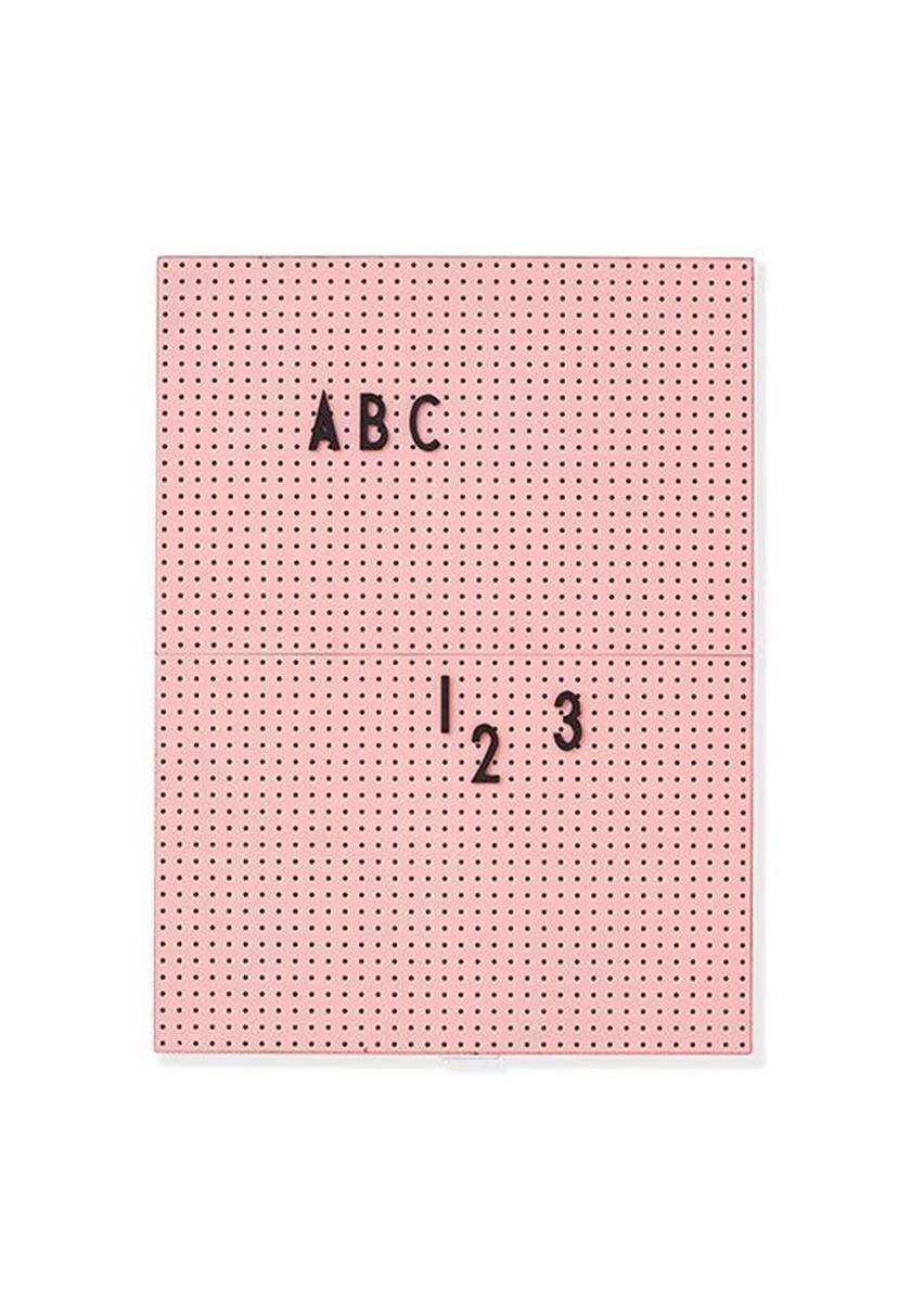 Design Letters Oppslagstavle Rosa A4