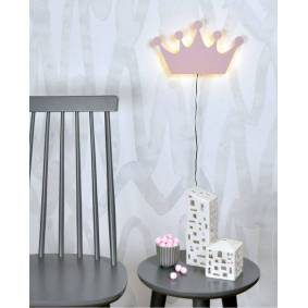 Globen Vegglampe Krone, Rosa