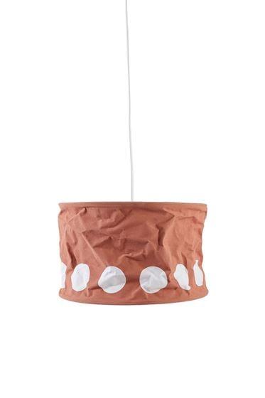 Kids Concept Lampeskjerm, Dot, Mrk Aprikos