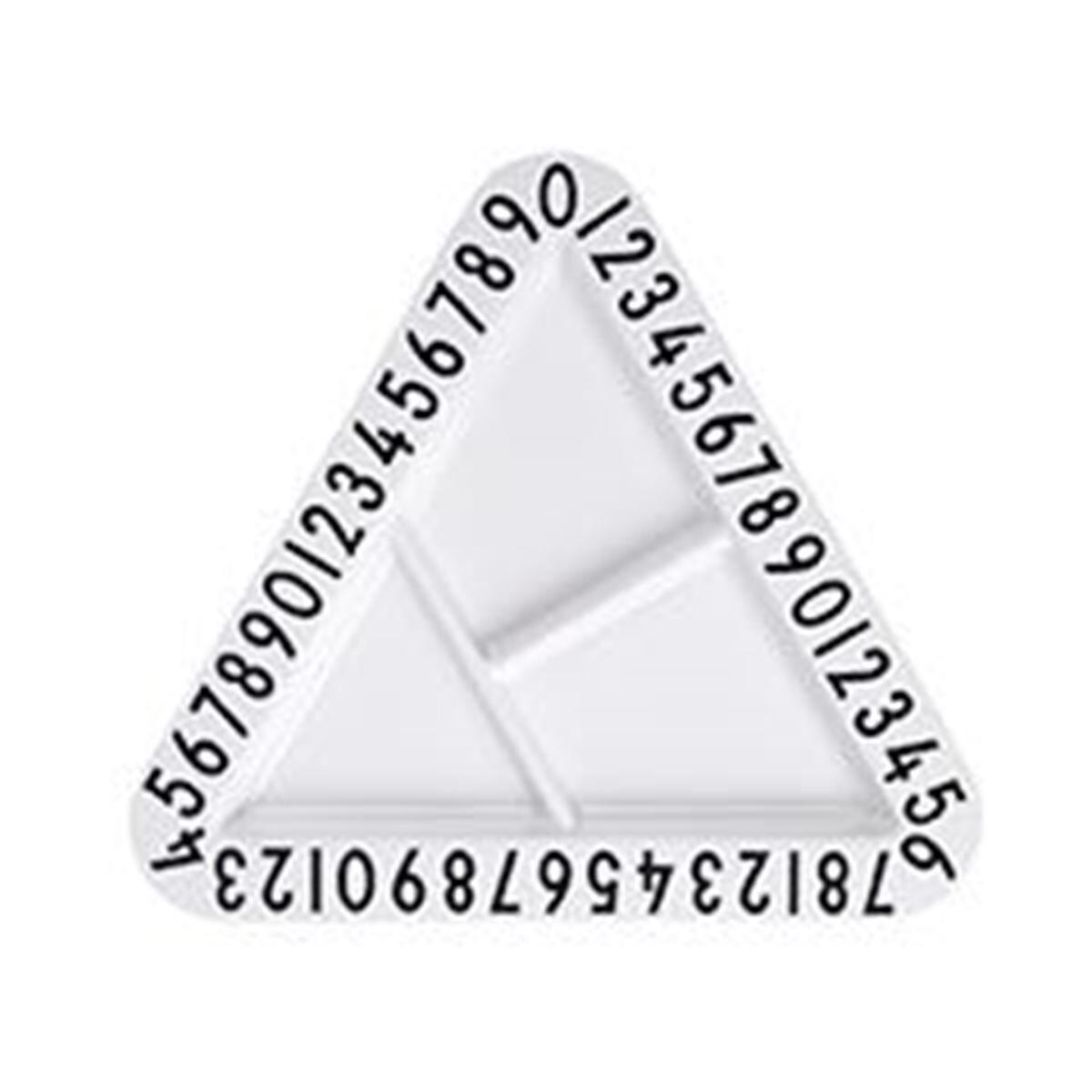 Design Letters Melamin Tallerken, Triangel ABC