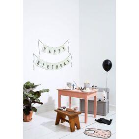 Design Letters Flaggrekke, Happy Birthday, Grønn