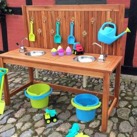 Sagababy Utendørs Lekekjøkken - Mudderkjøkken, med 2 vasker og pumper