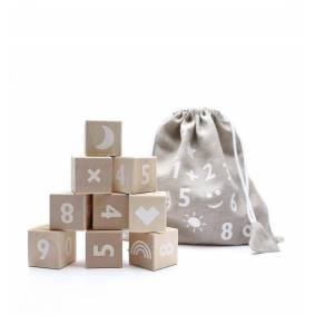 Ooh Noo Math Blocks, 10 Treklosser, Hvit