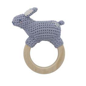 Sebra Heklet Rangle, Bluebell the rabbit on ring, dreamy lavender