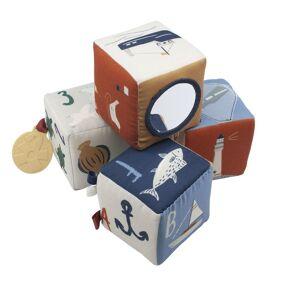 Sebra Myke Klosser, 4 stk baby blocks, Seven Seas