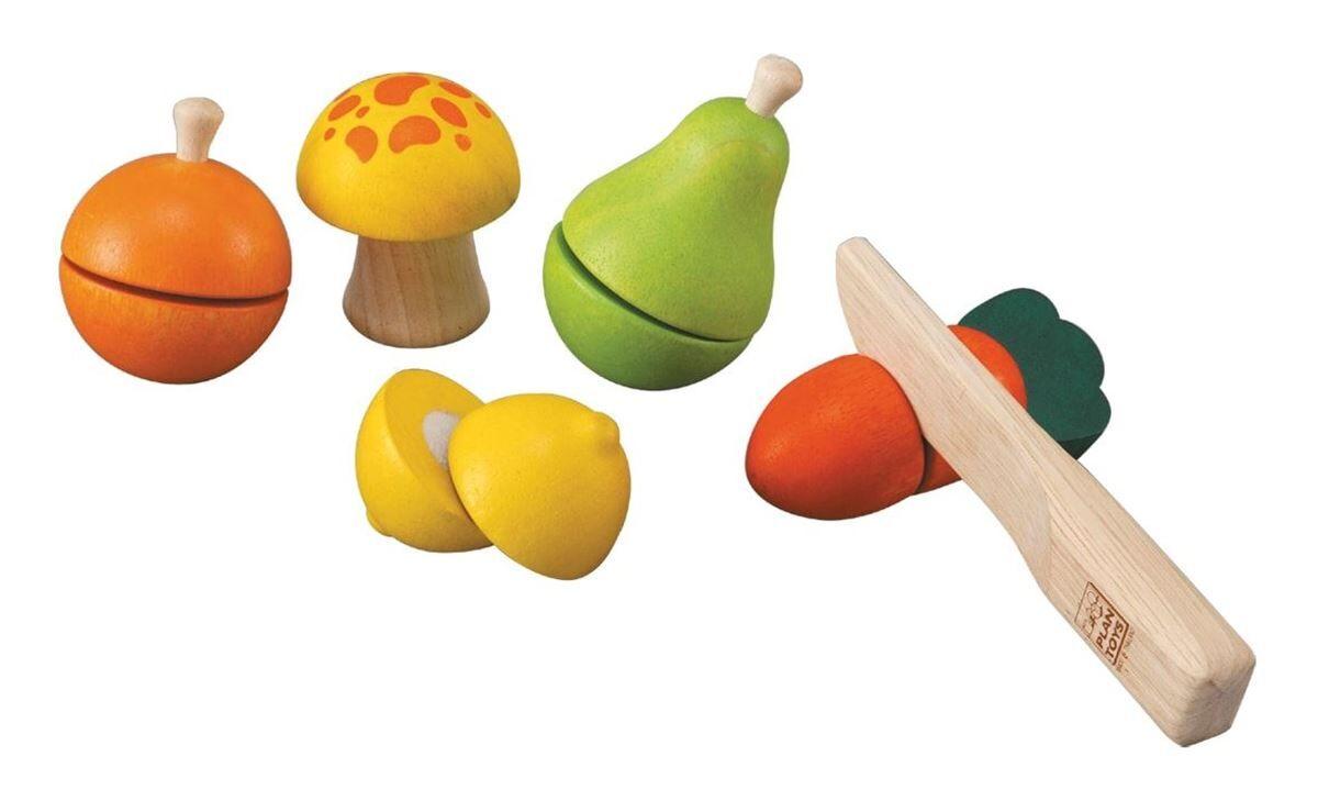 Plan Toys Lekesett med Frukt og grønnsaker