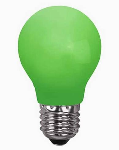 Star Trading GRØNN E27 0,7W LED-lampa 356-43-1