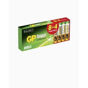 GP Batteries GP Super Alkaline AAA, Promo 8+4