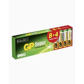 GP Batteries GP Super Alkaline AA, Promo 8+4