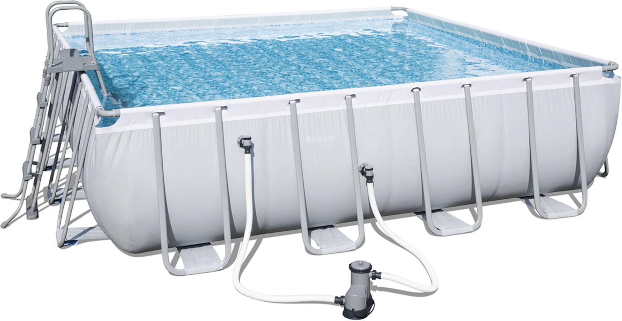 Bestway Power Steel Pool m. Tilbehør 488 x 488