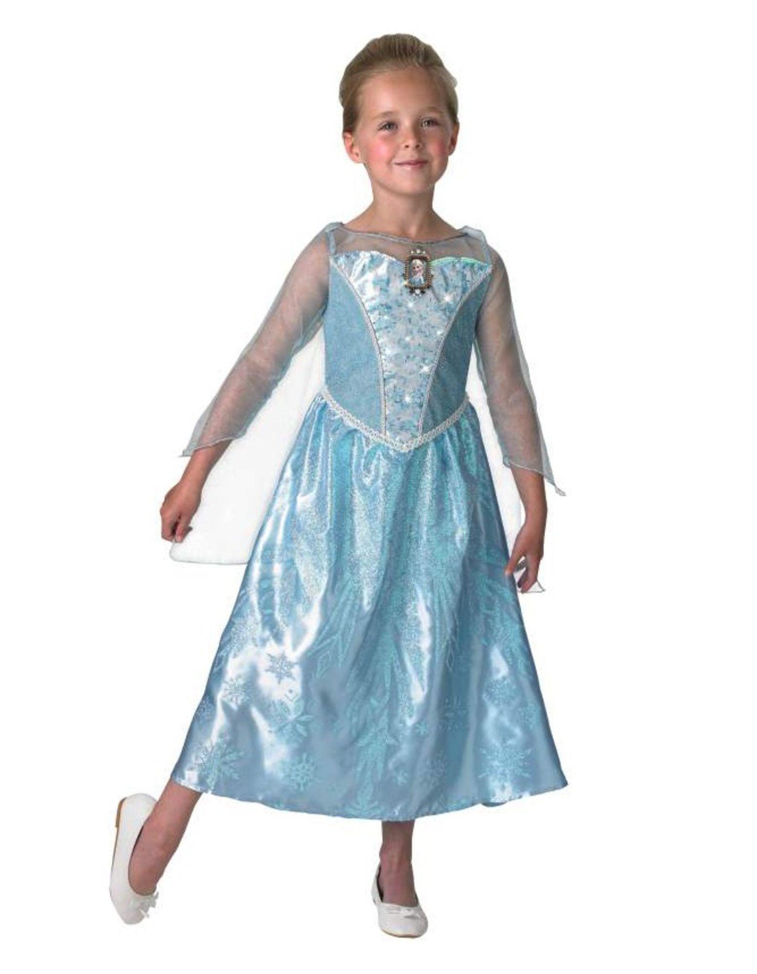 Disney Frozen Drakt Kjole med Lys & Musikk, Elsa 128