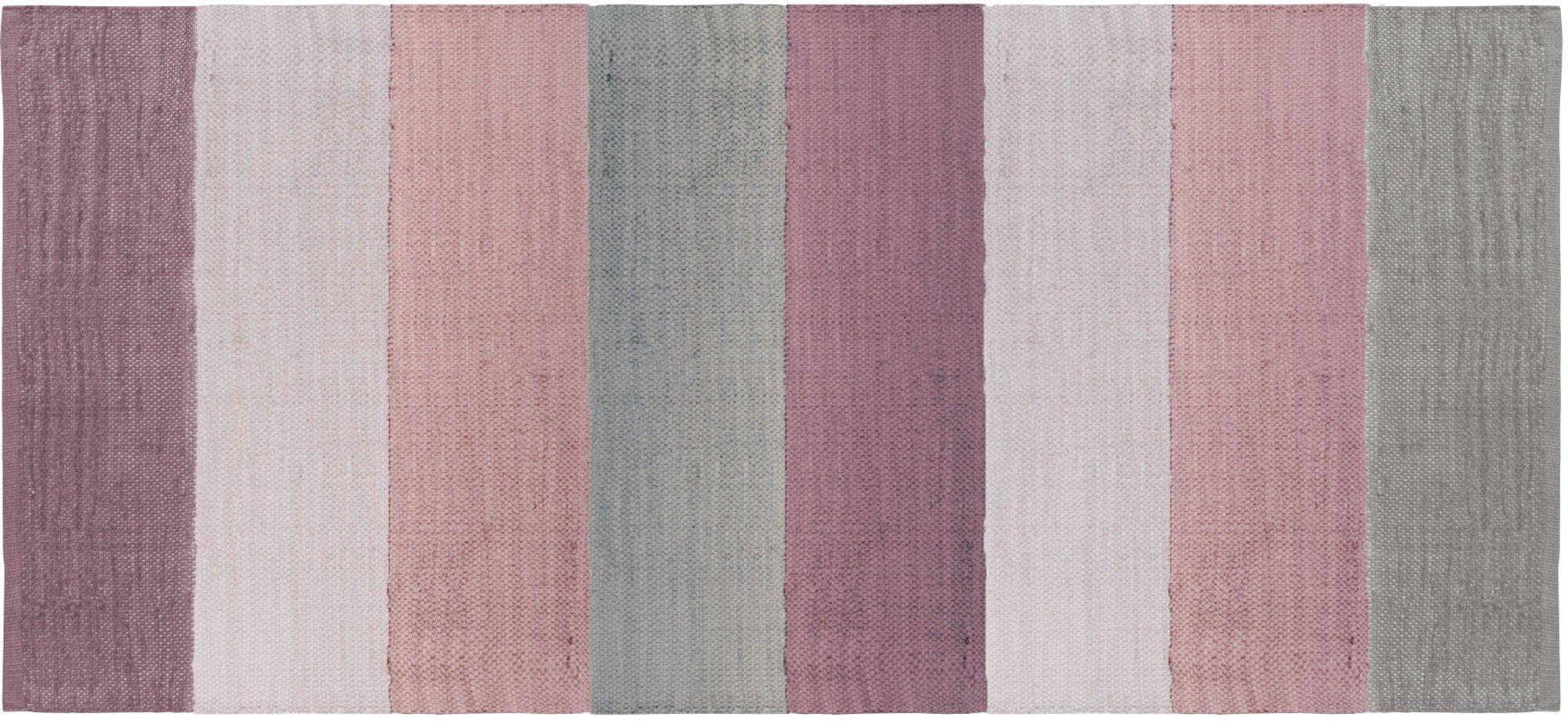 Sebra Gulvteppe 80x180, Rosa